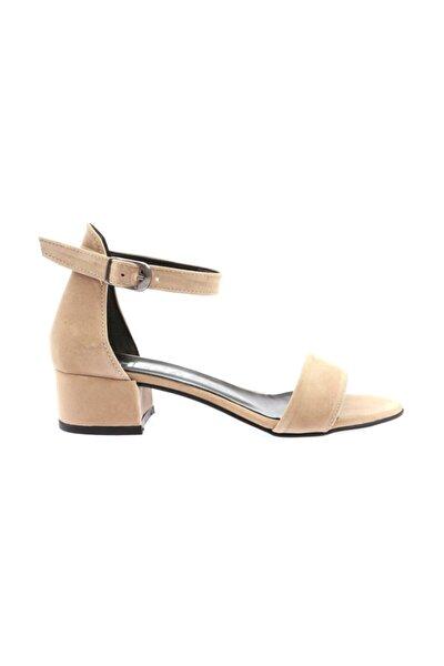Kadın Yüzü Tek Bant Bilekten Bağlı Kısa Topuklu Ayakkabı  352-05