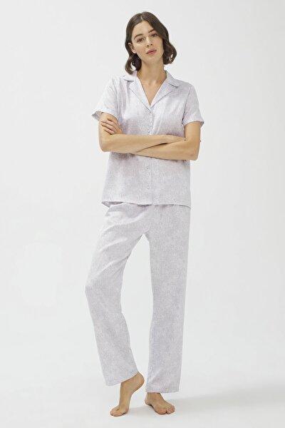 Stone Saten Pijama Takımı