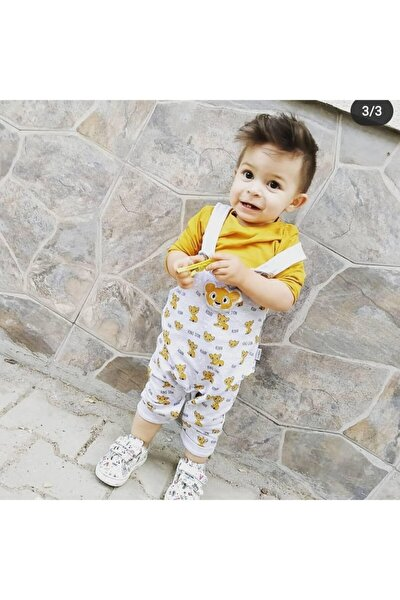 Unisex Çocuk Sarı Aslan Tulum