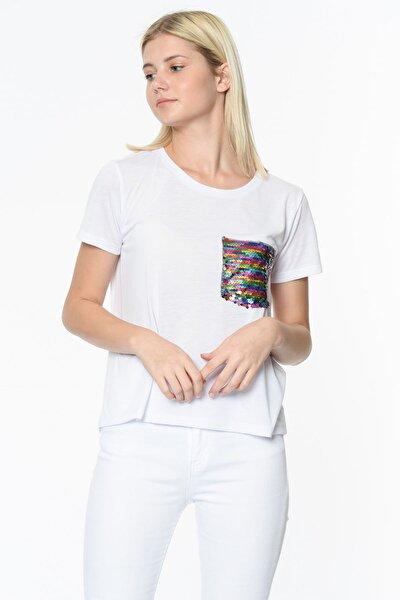 Kadın Ekru T-Shirt 9YAK13834EK