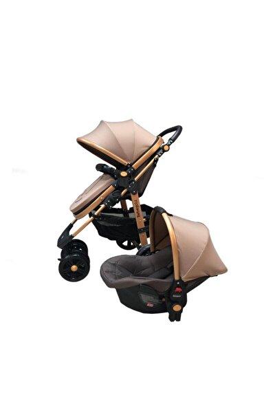 Kahverengi Travel Sistem Bebek Arabası Bg-561 Cbb-1001