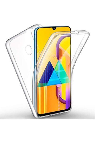 Samsung Galaxy M21 360 Derece Şeffaf Silikon Kılıf Komple Koruma