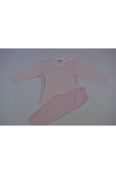 Kız Bebek Pembe Çizgili Pijama Takımı