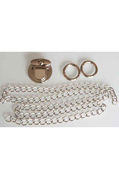 Gümüş Renk Zincir Set