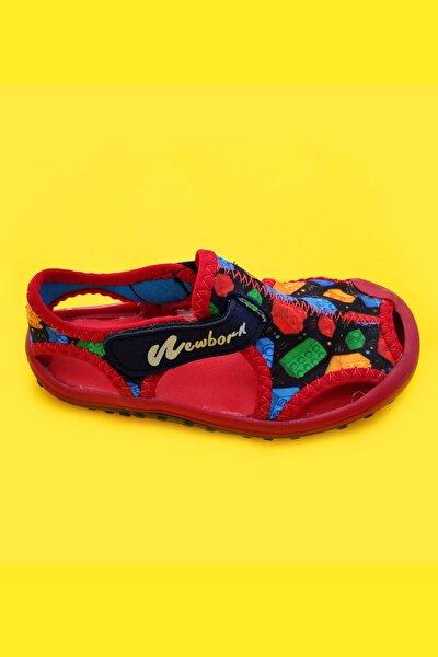 Unisex Bebek Çocuk Kırmızı Spor Sandalet