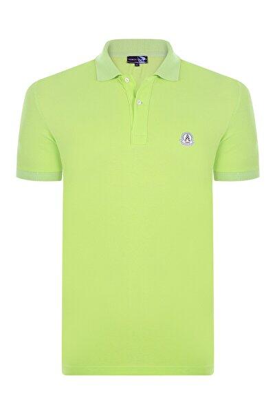 Erkek Neon Yeşil Kısa Kollu Polo T-shirt