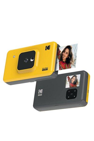 Mini Shot Combo 2 - Anında Baskı Dijital Fotoğraf Makinesi - Sarı