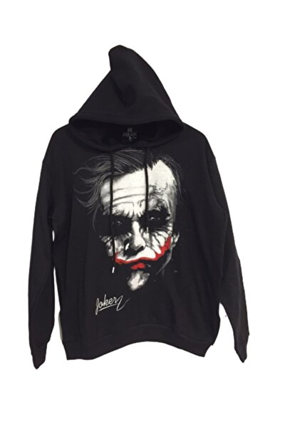 Siyah Joker Baskılı Sweatshirt