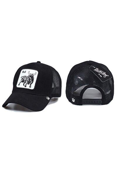 Boğa Model Hayvan Desenli Şapka Siyah