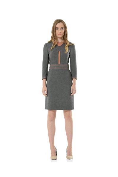 Kadın Gri Uzun Kollu Elbise