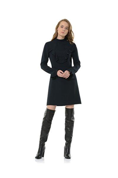 Kadın Siyah Uzun Kol Elbise