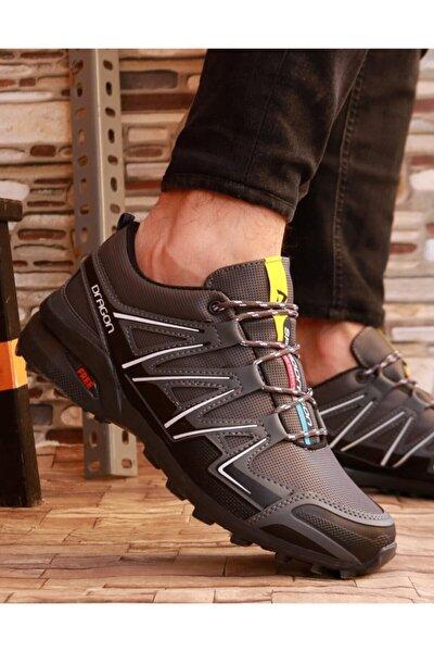 Erkek Gri Kaymaz Taban Kışlık Spor Ayakkabı