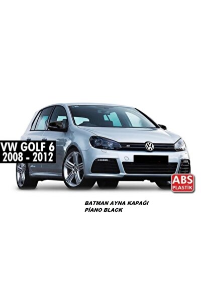 Golf 6 2009-2012 Batman Yarasa Ayna Kapağı Piano Black