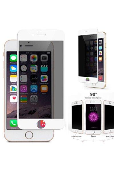 Iphone 7 - 8 6d Kavisli Temperli Hayelet Ekran Koruyucu (renk - Beyaz) Kırılmaz Cam