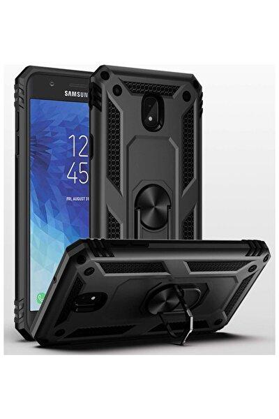 Samsung Galaxy J7 Pro Vega Yüzüklü Siyah Zırhlı Tank Kapak