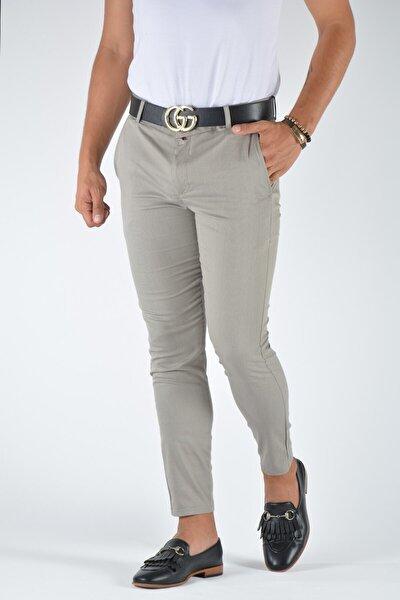 Erkek Taş Rengi Slimfit Keten Pantolon 20y-2200333