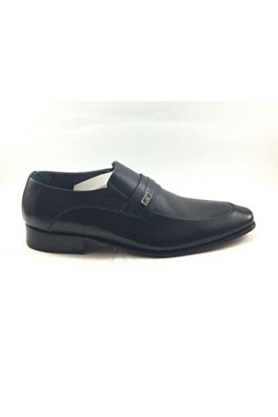 Erkek Kösele Hakiki Deri Siyah Ayakkabı