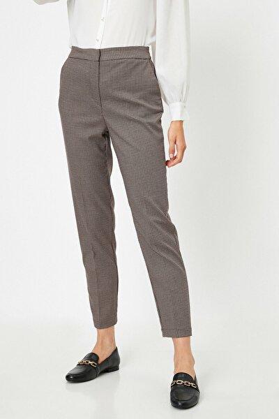 Kadın Kahverengi Ekoseli Jeans 0KAK42274UW