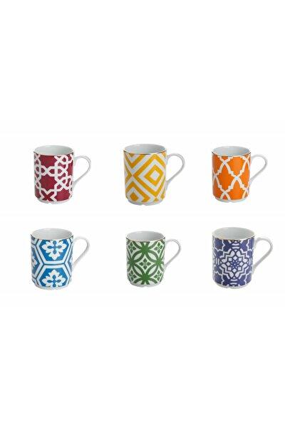 Morocco Desen Karışık Renk Kupa Seti 6 Parça