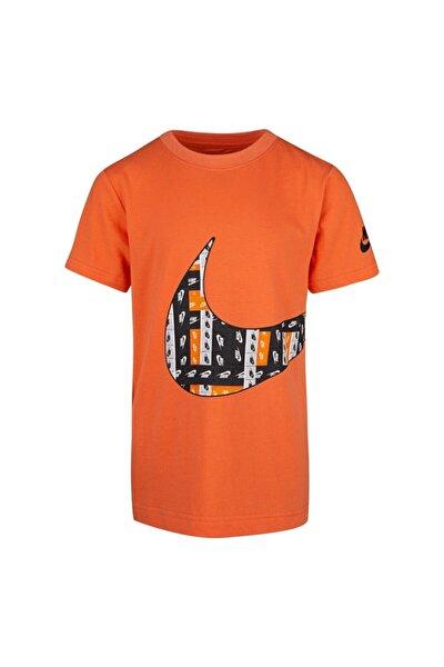 Lo-fı Label Wrap Swoosh Çocuk Turuncu Tişört