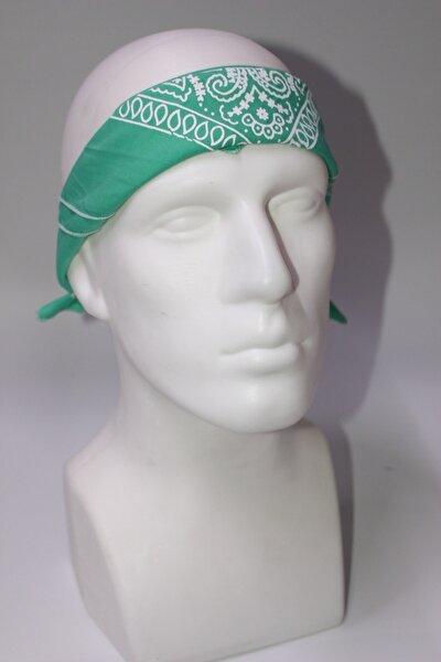 Yeşil Şal Desenli Bandana