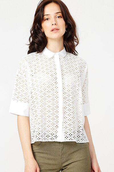 Kadın Beyaz Gömlek 504529499