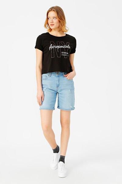 Kadın Siyah T-Shirt 504395459