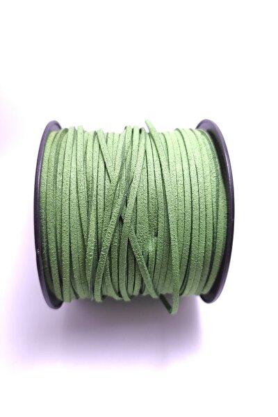 10 mt Yeşil Renk SüetKolye Bileklik Ipi