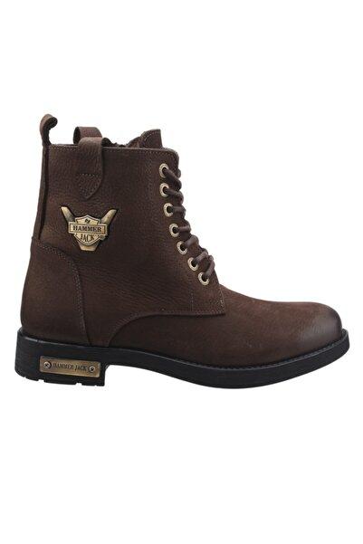 Erkek Kahverengi Günlük Deri Bot Ayakkabı