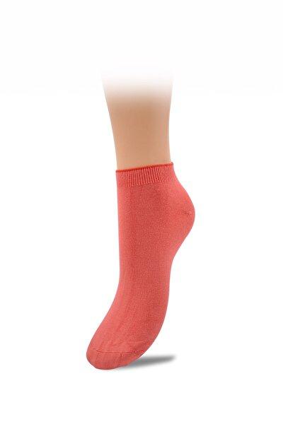 Kadın Nar Çiçeği Bambu Spor Patik Çorap