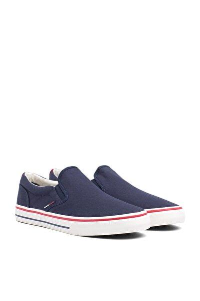 Erkek Gri Sneaker Tommy Jeans Textıle Slıp On EM0EM00002