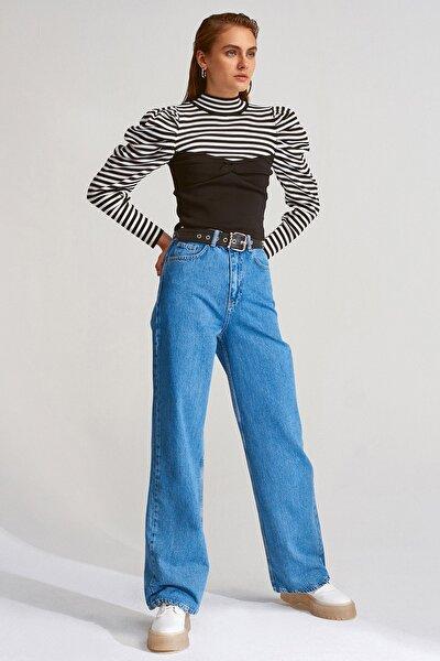 Kadın Lacivert Uzun Pantolon4177