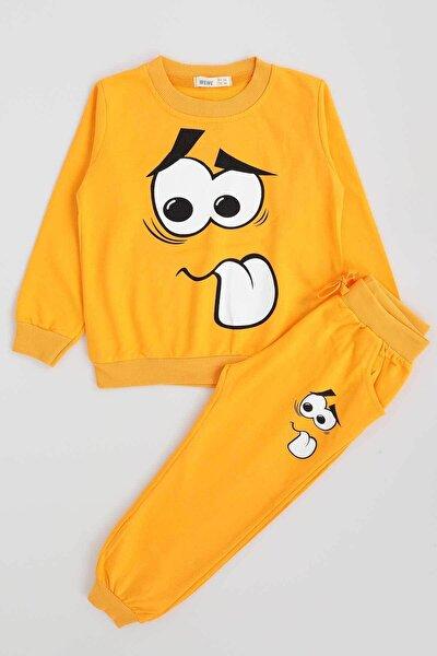 Erkek Çocuk Sarı Surat Baskılı Takım 611011