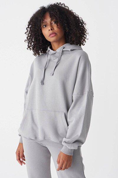 Kadın Y.GRİ Kapşonlu Sweatshirt S0519 - U4 ADX-0000014040