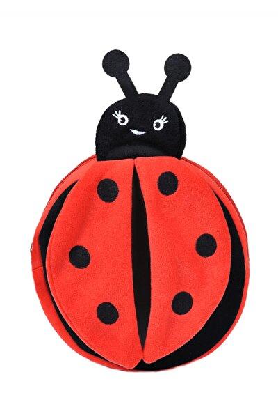 Unisex Çocuk Kırmızı Uğur Böceği Peluş Sırt Çantası