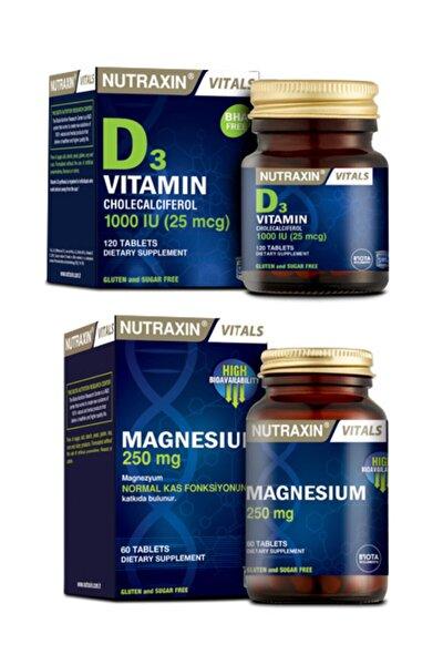 Yetişkinler Için Magnezyum Takviyesi 60 Tablet ve Vitamin D3 1000li 120 Tablet