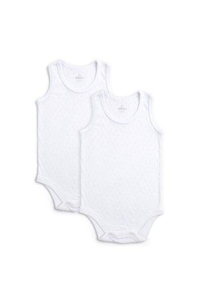 Bebek Beyaz Basic 2 li Atlet Body Set