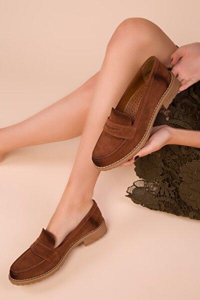 Taba Süet Kadın Casual Ayakkabı 15471