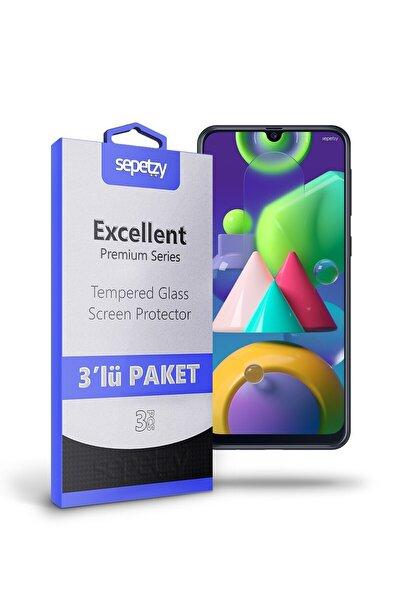 Samsung Galaxy M21 Temperli Kırılmaz Cam Ekran Koruyucu 3'lü Paket