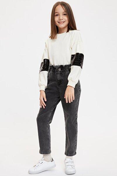 Kız Çocuk Antrasit Kot Pantolon