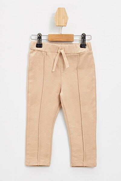 Erkek Bebek Beli Lastikli Basic Pantolon