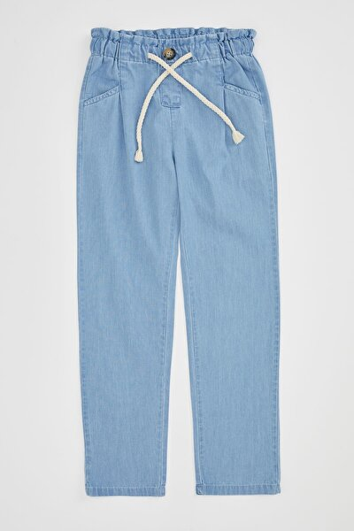 Kız Çocuk Mavi Kot Pantolon