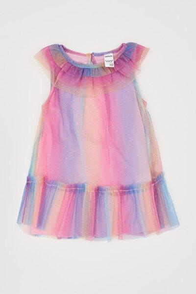Kız Çocuk Fırfır Detaylı Elbise