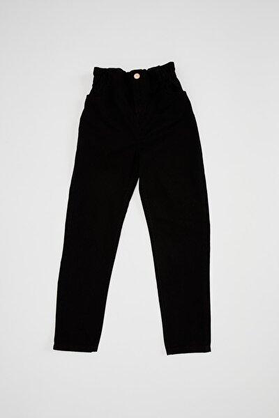 Kız Çocuk Elastik Belli Paperbag Jean Pantolon