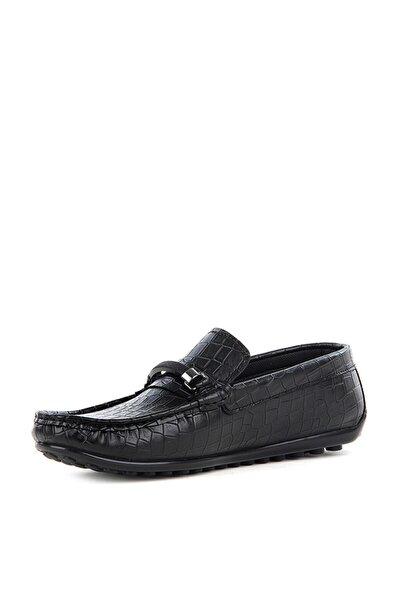 Erkek Siyah Teking Loafer Günlük Ayakkabı