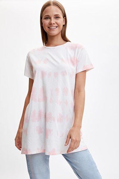 Modest Batik Desenli Uzun Tişört