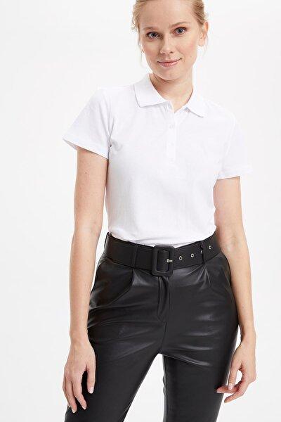 Kadın Beyaz Basic Polo T-Shirt I1078AZ.20SP.WT34