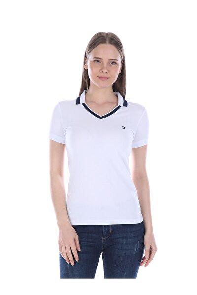 Kadın Beyaz Kısa Kollu Polo T-shirt