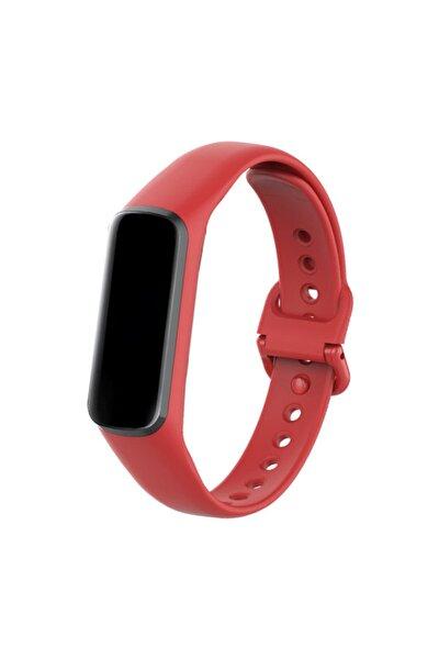 Samsung Galaxy Fit E Sm-r375 Kırmızı Silikon Kordon