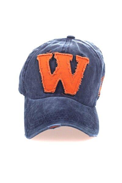 Şapka, Cap Şapka, Erkek Kadın Şapka, W Şapka, W Snapback Lacivert